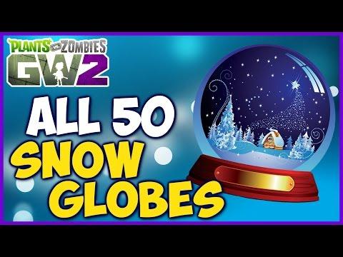 All 50 Snow Globe Locations + 100,000 Coins! - Plants vs Zombies: Garden Warfare 2