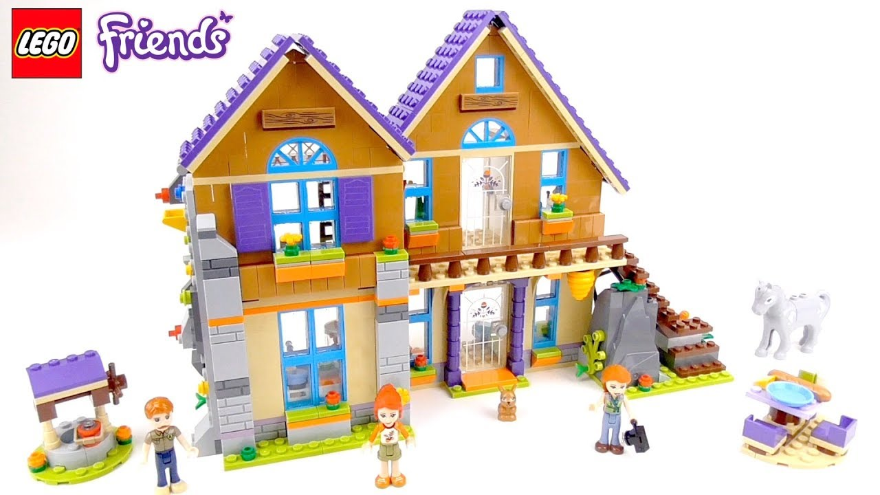Lego Friends Mias House Playset 41369 Toy Unboxing Speed Build