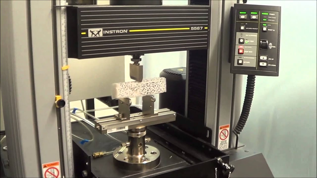 Experimental Setup For Three Point Bend Test With Dic