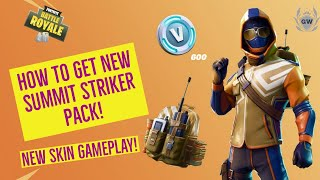 HOW TO GET NEW FORTNITE STARTER PACK BUNDLE! SUMMIT STRIKER SKIN GAMEPLAY! Fortnite Battle Royale!