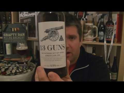 Crafty Dan Micro Brewery (Thwaites) - 13 Guns American IPA - HopZine Video Review