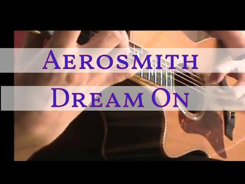 Aerosmith - Dream On (Free Tab#9) Fingerstyle
