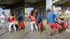 Mujer queda desnuda en la calle después de que su marido la descubre con su amante