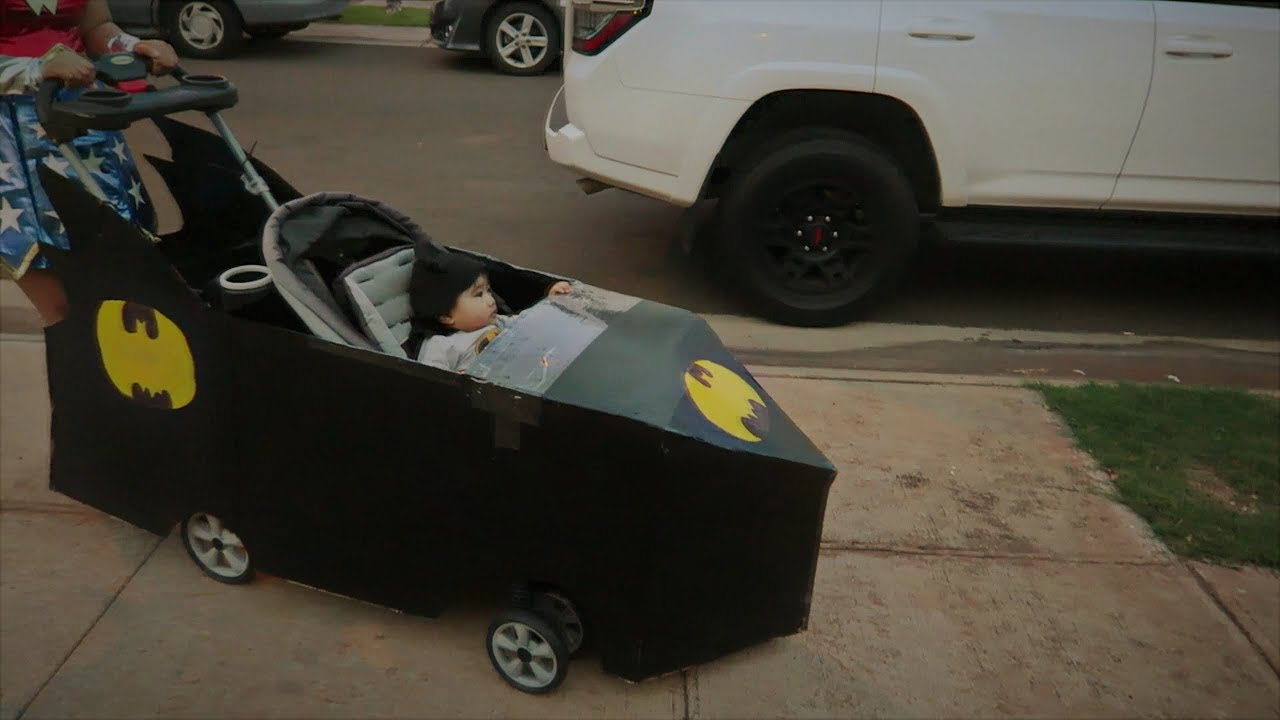 Baby S First Diy Bat Mobile Stroller