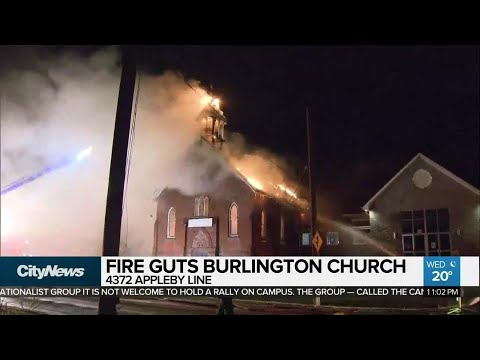 Terrorist graffiti found on Burlington church gutted by fire