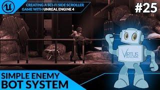 إنشاء الأساسية العدو بوت منظمة العفو الدولية - #25 وخلق SideScroller مع محرك غير واقعي 4