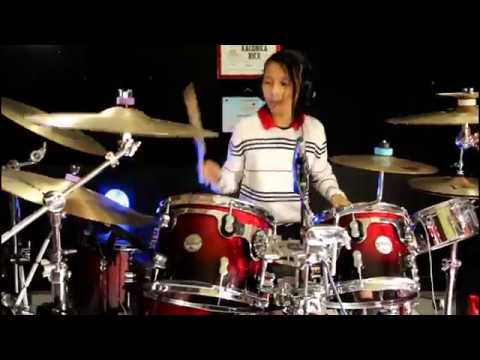 Knife Party Give It Up - Drum Cover by 12 yo Kalonica Nicx