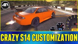 Crazy S14 Drifting & Customization!! - Drift Streets Japan