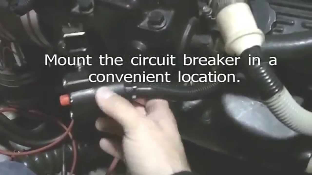 mercruiser wiring diagram 4 3 typical sailboat installing a thru hull exhaust system on baja boat - youtube