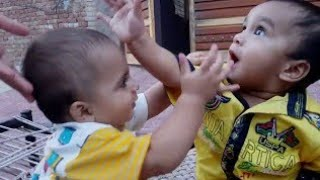 cutest baby kissing each other funny pakistani  kids