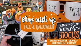 Shop with me for Fall   Rae Dunn Halloween   Fall Decor 2019   HomeGoods, Michaels Fall Decor