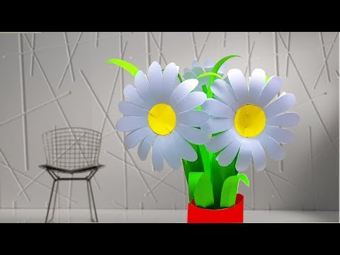 Daisy Paper Flower Tutorial | How to Make Daisies Paper flower #linascraftclub