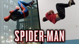 Stunts From Spiderman PS4 In Real Life (Parkour, Tricking)