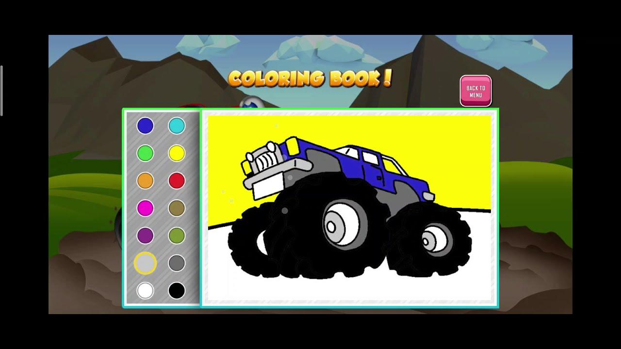 Monster Trucks Game for Kids 2 | Racing Games | Coloring ...
