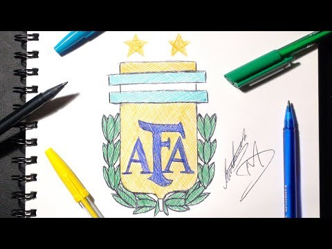 HOW TO DRAW THE ARGENTINA LOGO | STEP BY STEP Tutorial | SKETCH SUNDAY