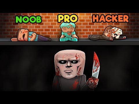 Minecraft - ESCAPE THE PSYCHO MAZE! (NOOB vs PRO vs HACKER)
