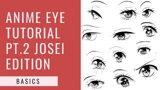 [ClipStudioPaint] How to Draw an Anime Eye for Beginners Josei Edition