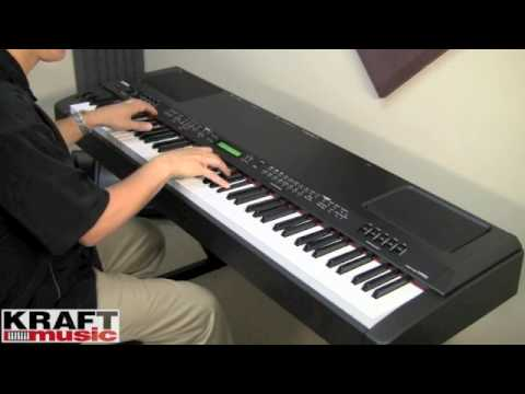 kraft music yamaha cp300 stage piano demo with tony. Black Bedroom Furniture Sets. Home Design Ideas