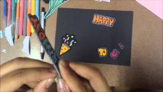 Repeat youtube video วิธีการทำการ์ดอวยพรวันเกิด byมินมิน