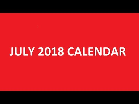 July 2018 Calendar Printable, Template, PDF, Holidays