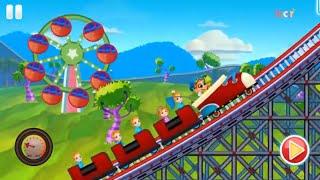 Lunapark Heyecanlı Hız Aracı Oyunu - Fun Race Roller Coaster - Bıcır Fun Games