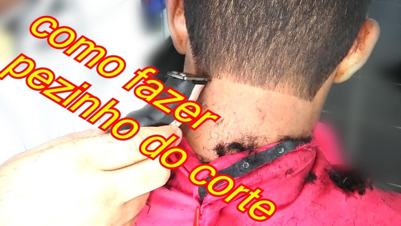 0385f8869 como fazer o pé do cabelo-com máquina de acabamento e navalhete2016 ...