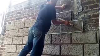 Cómo aparentar sillar en pared(how to look like cillar in wall)