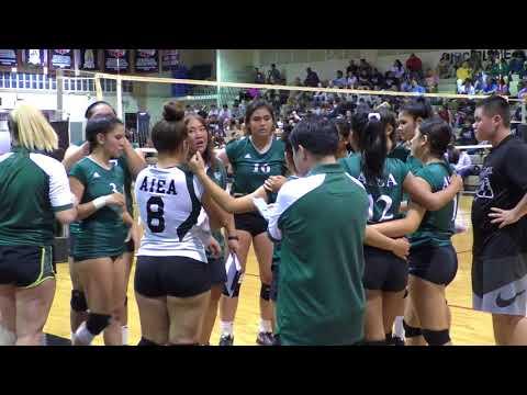 "Aiea Na Alii Varsity Girls Volleyball ""vs"" Radford Rams 2018"