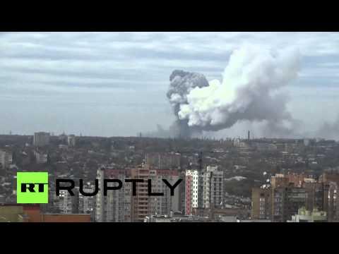 Ukraine: Huge mushroom cloud over Donetsk as explosion rattles city