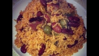Dominican style rice and beans.. moro