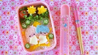 How to Make Kiki & Lala Little Twin Stars Bento Lunch Box (Recipe) キキララ弁当の作り方 (レシピ)