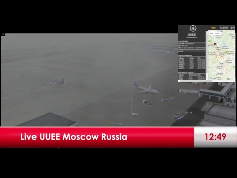 Live Airport UUEE Moscow Russia 29.11.2017