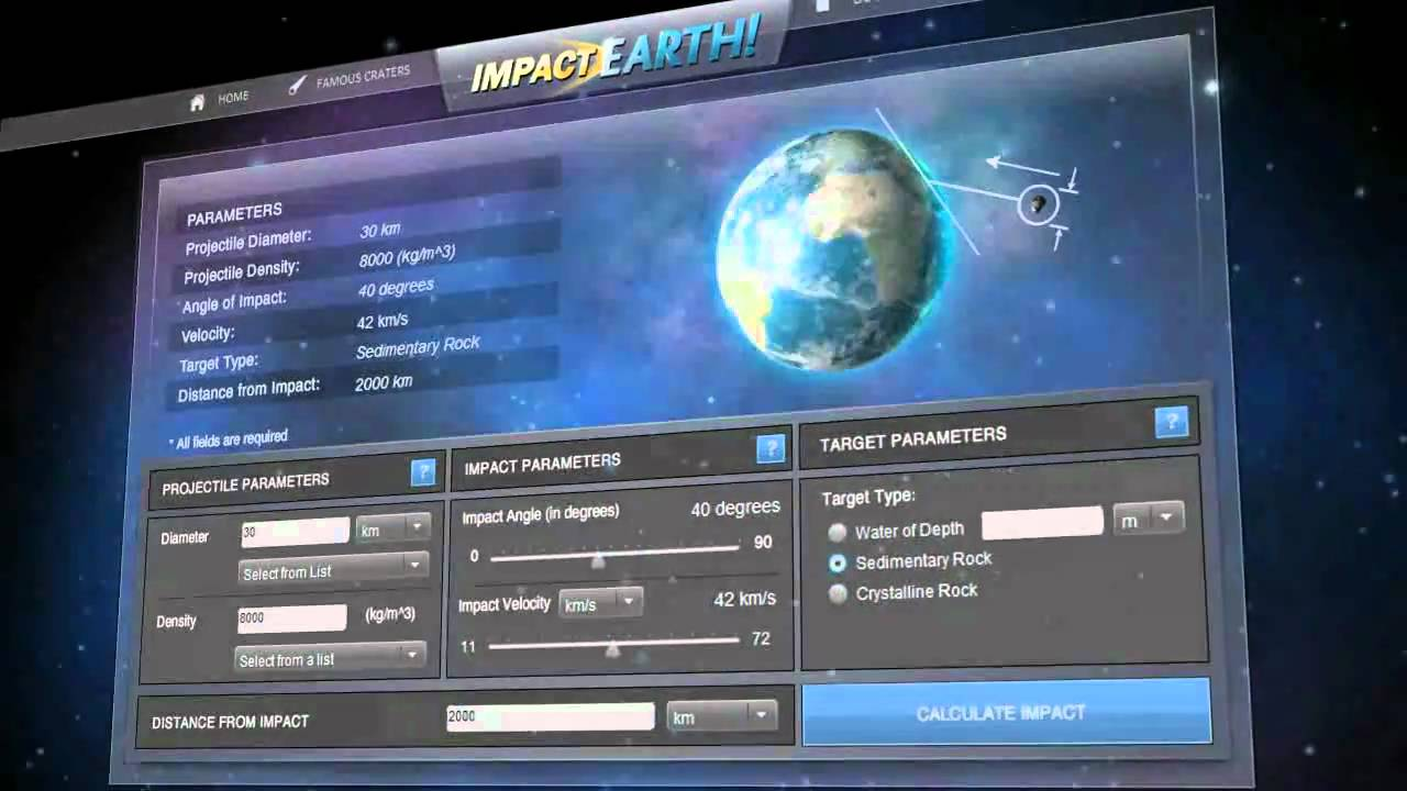 Interactive Asteroid Impact Simulation (page 2) - Pics ...