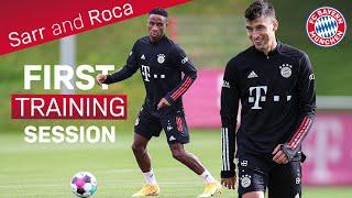 Marc Roca & Bouna Sarr: First Training at FC Bayern