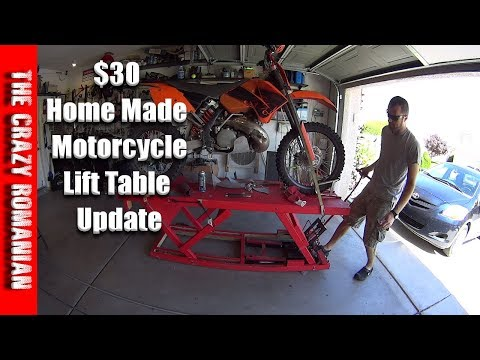 Home made $30 Wood Hydraulic motorcycle lift table, UPDATE after 6 months of use