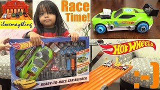 Kids' TOY CARS! Building Customized HOT WHEELS Car. Hot Wheels DRAG RACING Playtime