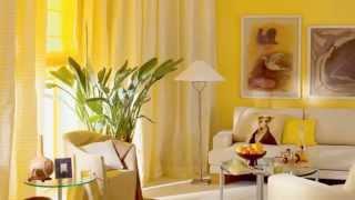 видео Желтый цвет в интерьере