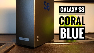 Unboxing Samsung Galaxy S8 Coral Blue