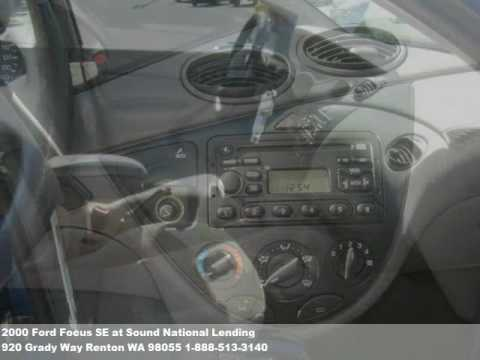 2000 Ford Focus SE, $4971 at Sound National Lending in Renton, WA