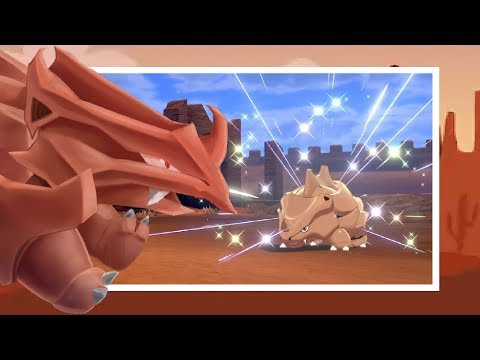 LIVE! Random Shiny Rhyhorn In Route 8 On Shield! [+Evolution]