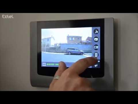 Installation LEVO ou STEP : visiophone tactile à mémoire de passage EXTEL