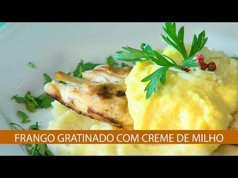 FRANGO GRATINADO COM CREME DE MILHO