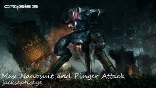 Crysis 3 PC Beta - Max Nanosuit and Pinger Attack