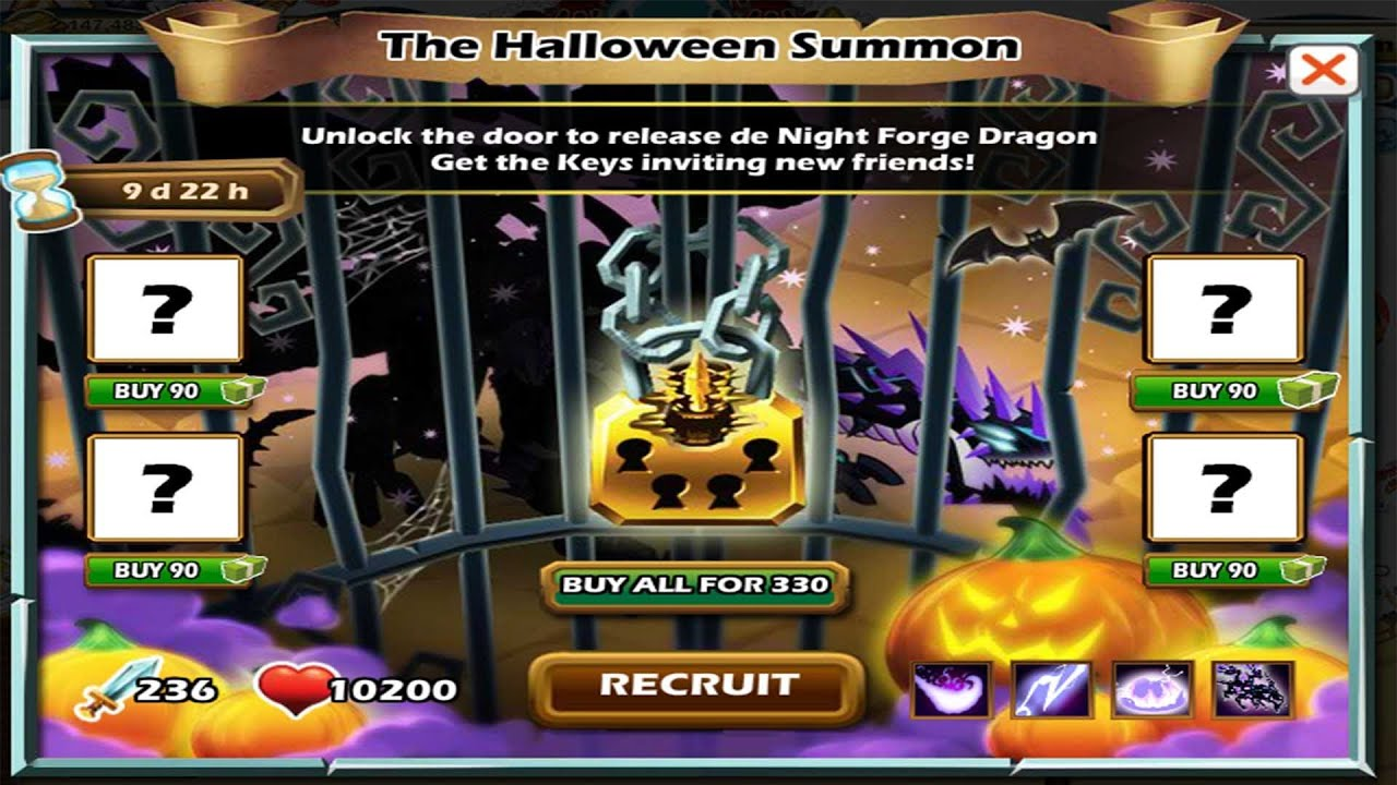 Social Empires The Halloween Summon Night Forge Dragon - YouTube