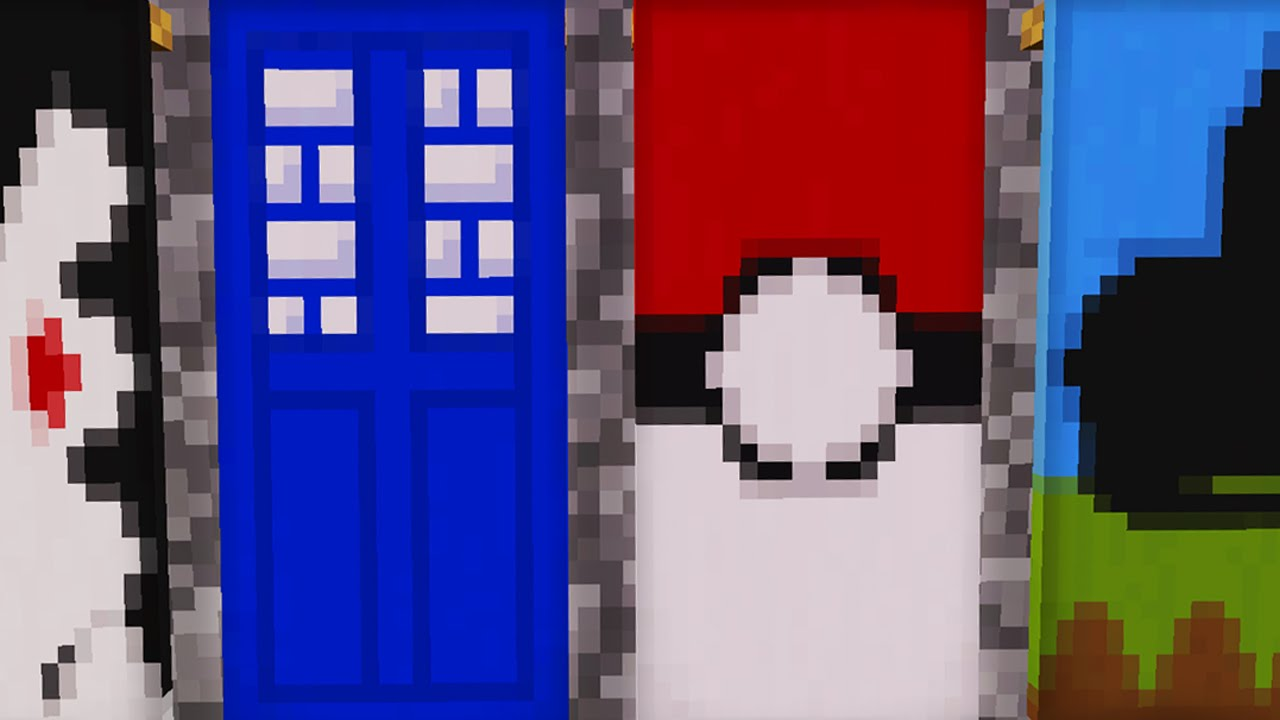 Minecraft 1 8 10 Awesome Banners In Minecraft 1 8 Pokemon Tardis Spiderman And More Youtube Excitingads
