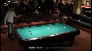 (1/2) Niels Feijen vs Nick van den Berg- Semi final Hilversum Open 2012 -9ball-