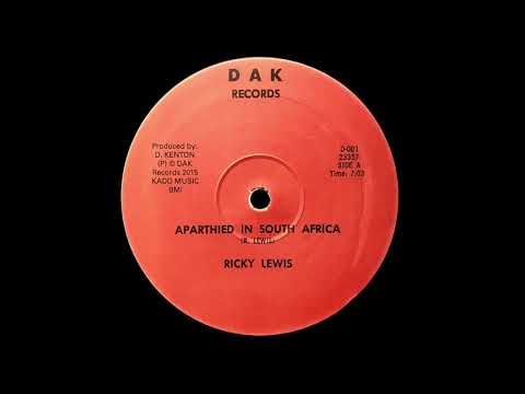 RICKY LEWIS - Apartheid In South Africa (1985) DAK Records