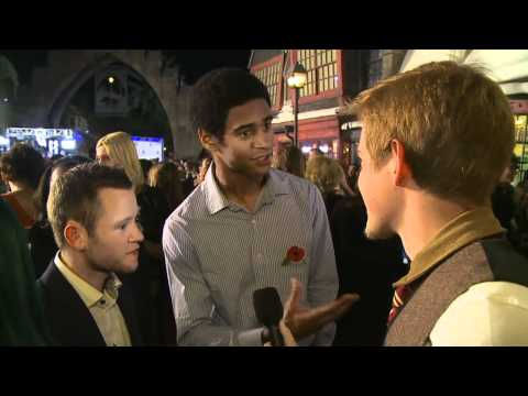 Devon Murray and Alfie Enoch on the Red Carpet at Warner Bros. Home Entertainment Celebration