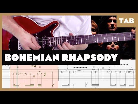Bohemian Rhapsody Queen Cover   Guitar Tab   Lesson   Tutorial