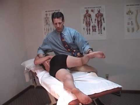 Lumbar flexed, rotated and side-bent left - Muscle Energy Technique (M1)